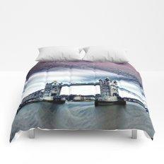 The Glorious London Bridge (Sunset & River) Comforters