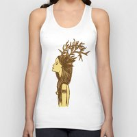 antlers Tank Tops featuring Antlers by MorningMajor