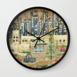 Driving Home for Christmas Wall Clock