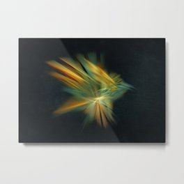 Magic Bird Fractal Art Metal Print