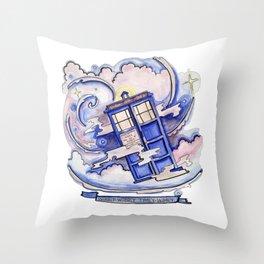 Wibbly Wobbly Timey Wimey Throw Pillow