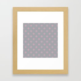 Ornamental Pattern with Grey and Pink Colourway Framed Art Print