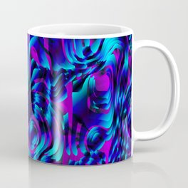 Metallic spray on marble dust with volcanic light blue tints. Coffee Mug