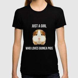 Guinea Pig Just A Girl Loves Wheek Gift Idea T-shirt