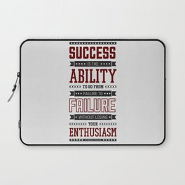 Lab No.4 Success is the ability Sir Winston Churchill Inspirational Quotes Laptop Sleeve