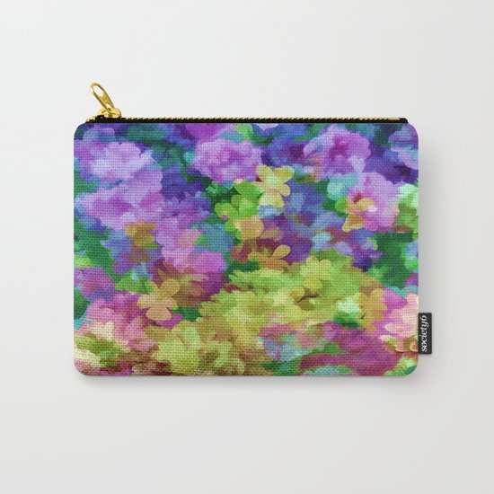 Watercolor Garden Flowers Carry-All Pouch