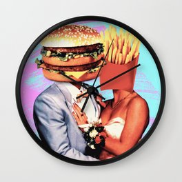 Fast Food Love Wall Clock