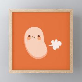 Baked beans farting Framed Mini Art Print