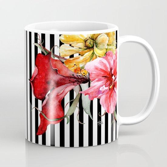 Flora Botanica Stripes Mug By Cheryl Daniels Society6