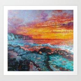 Thornwick Bay, Bridlington Art Print