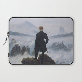 Wanderer above the Sea of Fog - Caspar David Friedrich Laptop Sleeve