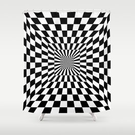 Optical Illusion Hallway Shower Curtain