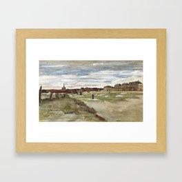 Vincent Van Gogh Bleaching Ground At Scheveningen Framed Art Print