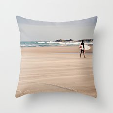 Brazilian Surfer  Throw Pillow