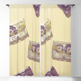Cassettes in yellow Blackout Curtain