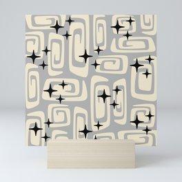 Mid Century Modern Cosmic Galaxies 439 Gray Mini Art Print