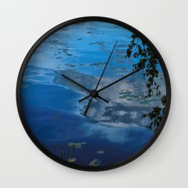 cloud reflections over lake eskiln Wall Clock