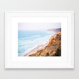 Cliffs at Torrey Pines Reserve Fine Art Print Framed Art Print
