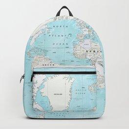 World's Oceans Bathymetry Map Backpack