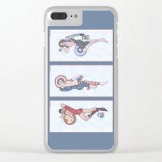 Superhero Pinup Trio (Stark Spangled Winter) Clear iPhone Case
