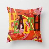 health Throw Pillows featuring Health by Sartoris ART