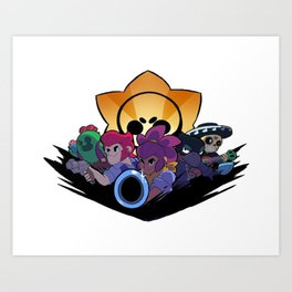 Spike, Colt, Shelly, Crow and Poco design | Brawl Stars Art Print