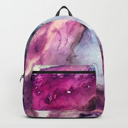 Purple Fusion - Mixed Media Painting Backpack