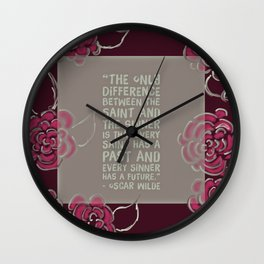 Sinners & Saints Wall Clock