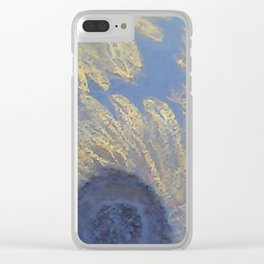 Sunflowers and sky Clear iPhone Case