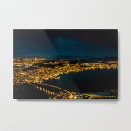 Tromso at night Metal Print