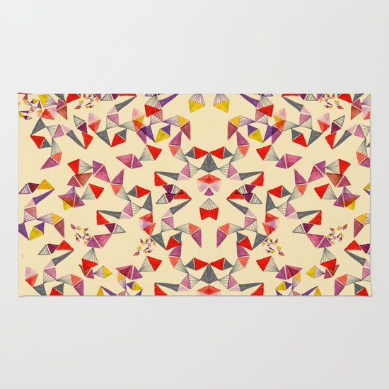watercolour geometric shapes Rug