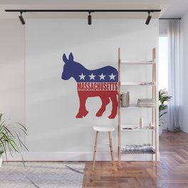 Massachusetts Democrat Donkey Wall Mural