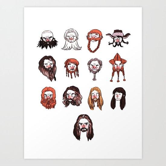 Just Dwarves Art Print