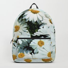 Daisies explode into flower Backpack