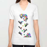gravity V-neck T-shirts featuring gravity by Nik Russo