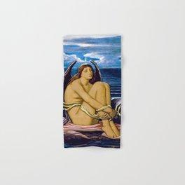 12,000pixel-500dpi - Soul In Bondage, 1896 - Elihu Vedder Hand & Bath Towel