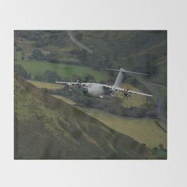 Airbus A400M At Mach Loop Throw Blanket