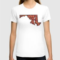maryland T-shirts featuring Maryland Paisley Illustration by Adrienne S. Price
