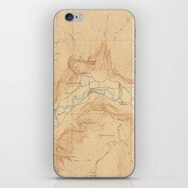 Vintage Map of Yosemite Valley (1907) iPhone Skin