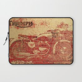 Triumph - Vintage Motorcycle Laptop Sleeve