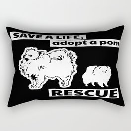 Adopt a Pomeranian Rectangular Pillow