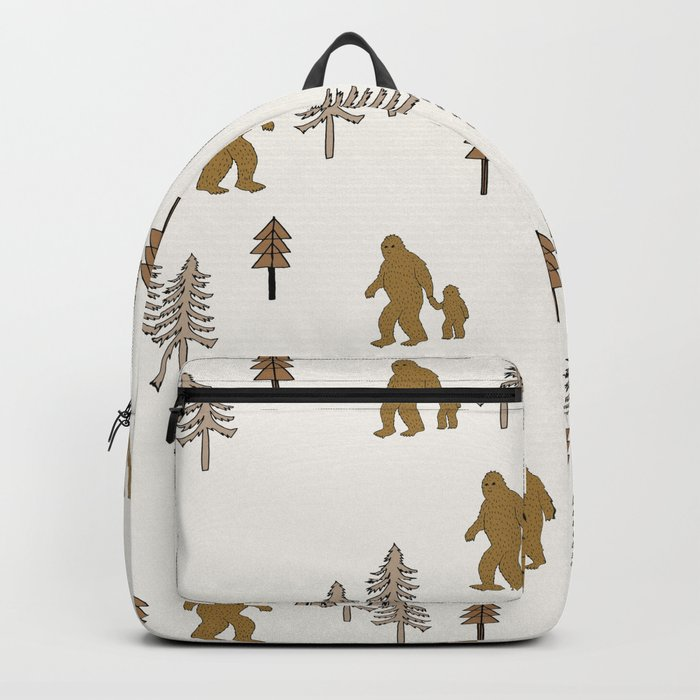 Sasquatch forest woodland mythic animal nature pattern cute kids design forest Backpack