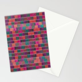 """Full Color Squares Pattern"" Stationery Cards"