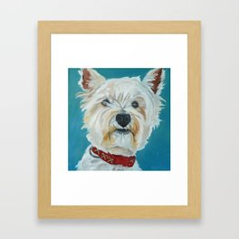 Jesse the Beautiful West Highland White Terrier Dog Portrait Framed Art Print