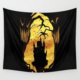 halloween castle Wall Tapestry