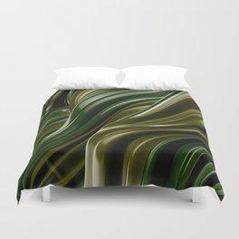 Green Wave Duvet Cover