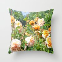 thanksgiving Throw Pillows featuring Faded Thanksgiving  by BananatheNana