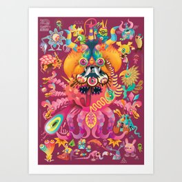 My favorite Monsters And Birds Part 2 Art Print