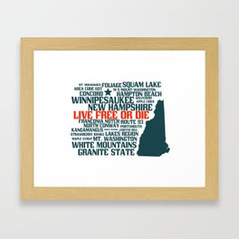 New Hampshire Live Free or Die Framed Art Print