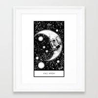 tarot Framed Art Prints featuring Moon Tarot by Corinne Elyse
